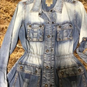 GUESS Jean jacket with waist adjustment
